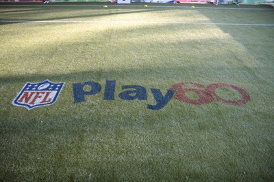 NFL Logo placed on grass