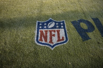 NFL Logo placed on ground